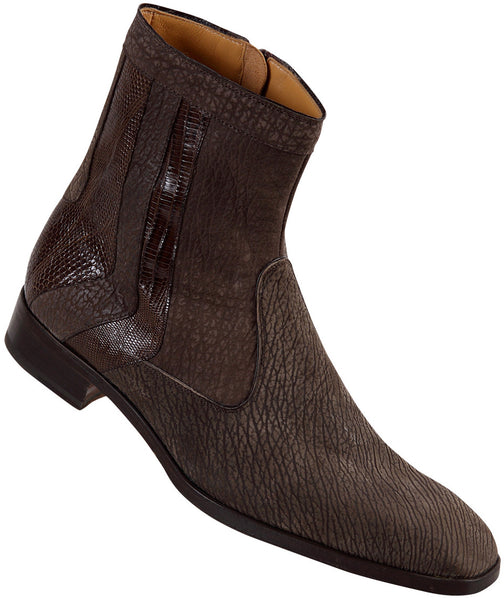 "Mauri - ""2226"" Shark Suede Brown Lizard Boot - Dudes Boutique"