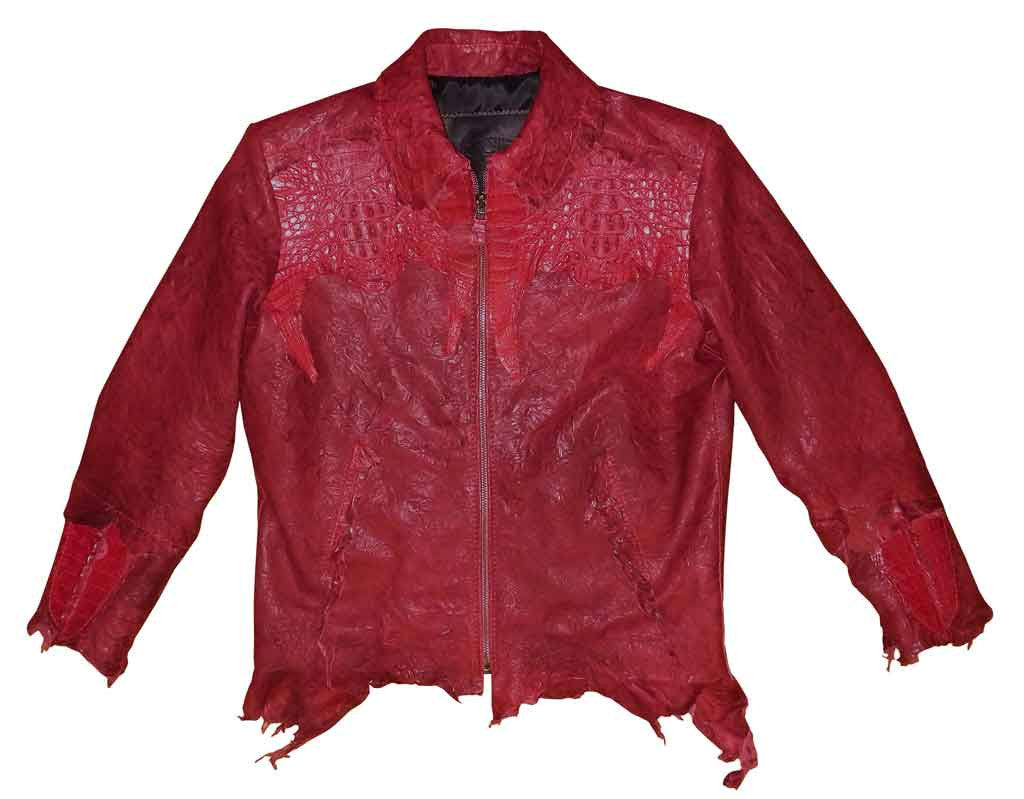 G-Gator - 2300 Washed Lambskin/Crocodile Jacket - Dudes Boutique