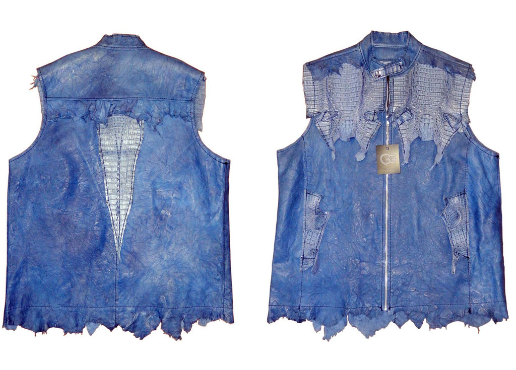 G-Gator - 231 Alligator/Washed Lamb Skin Vest - Dudes Boutique
