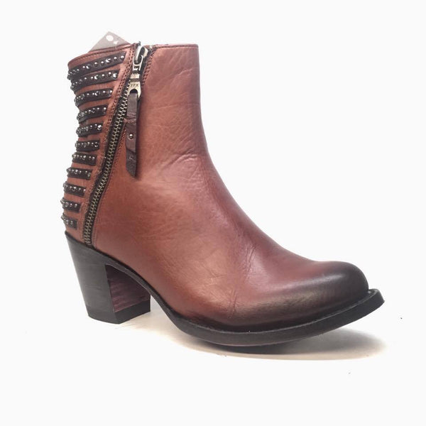 Denver Boots Lady Gabriel Tan Ankle Boots - Dudes Boutique