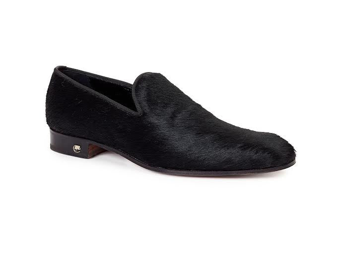 Mauri - 53153 Black Pony Hair Loafers - Dudes Boutique