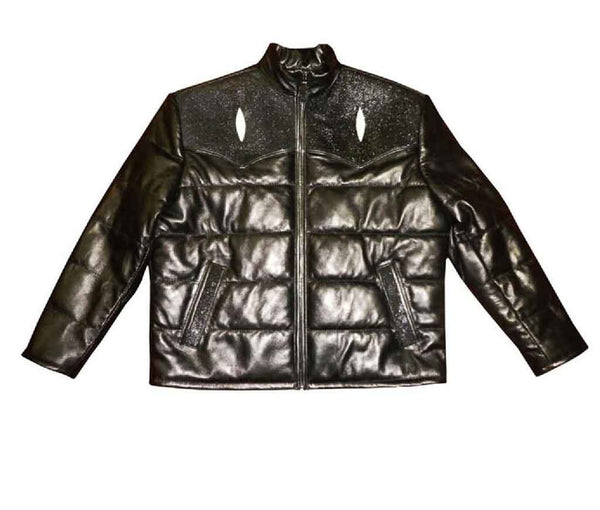 G-Gator - 2910 Quilted Lambskin/Stingray Jacket - Dudes Boutique
