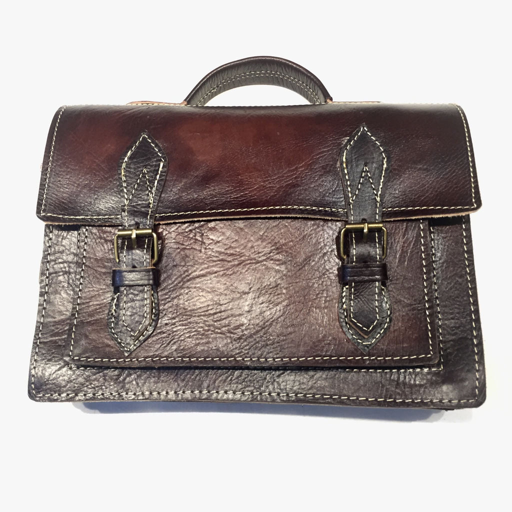 Moroccan Tuscan Aged Lambskin Messenger Bag - Dudes Boutique