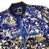 Golden Paint Splatter Bomber Jacket - Dudes Boutique