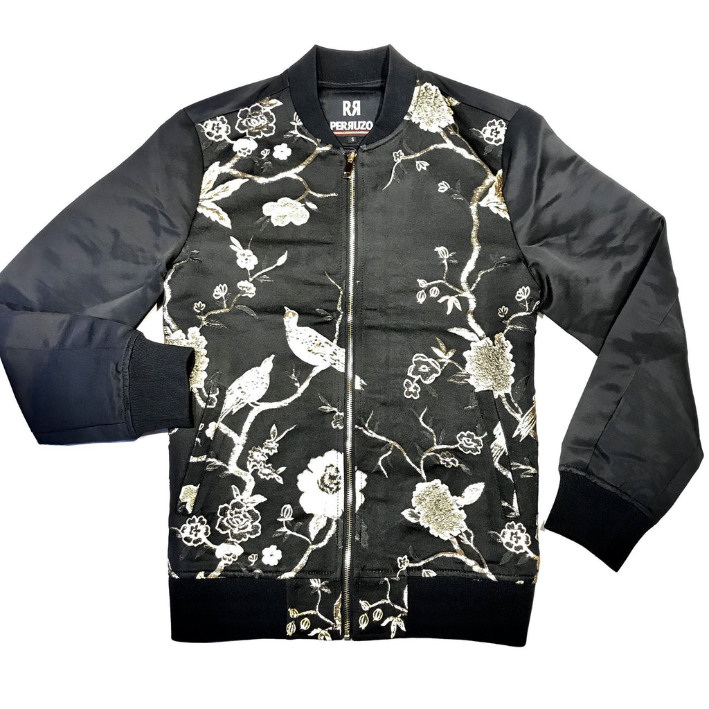 Mandarian Golden Stitch Bomber Jacket