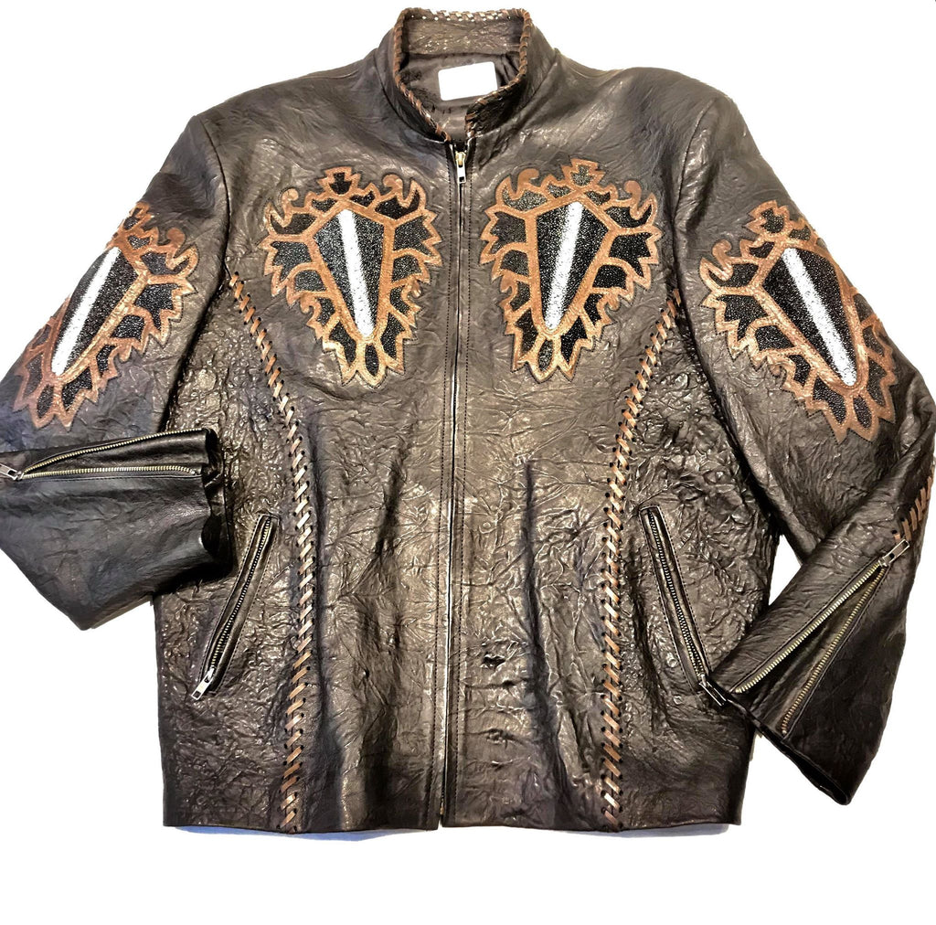 Kashani Hand Crafted Stingray Lambskin Jacket - Dudes Boutique
