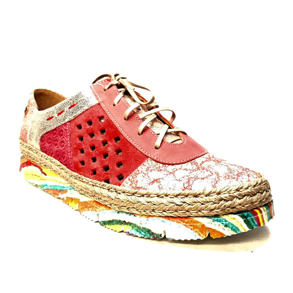 Maciejka Polish Multi Color Lace Up Trainers - Dudes Boutique