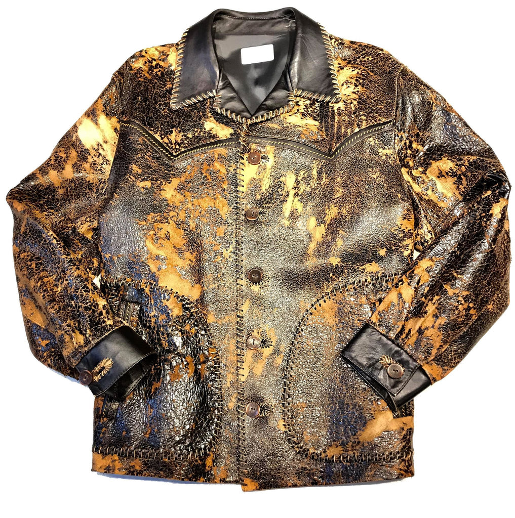 Crackle James Dean Jungle Leather Coat - Dudes Boutique