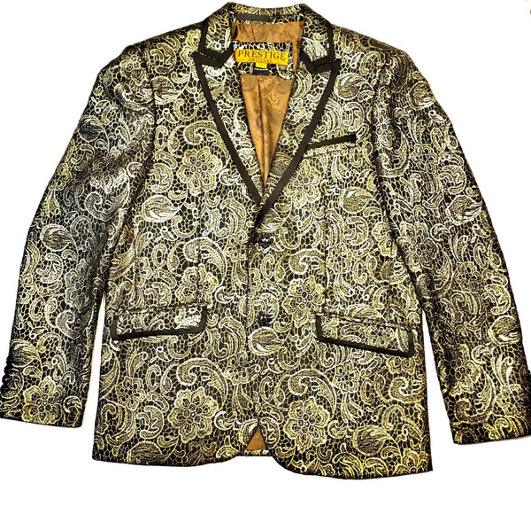 Prestige Exclusive Golden Double Stitched Blazer