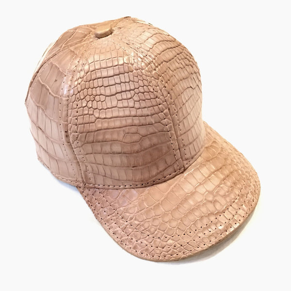 Cream All Over Alligator Strap back Hat - Dudes Boutique
