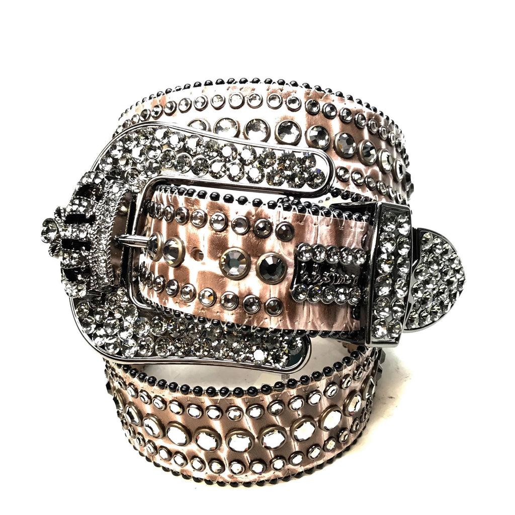 B.B. Simon 'Smoke Crown' Fully Loaded Swarovski Crystal Belt - Dudes Boutique