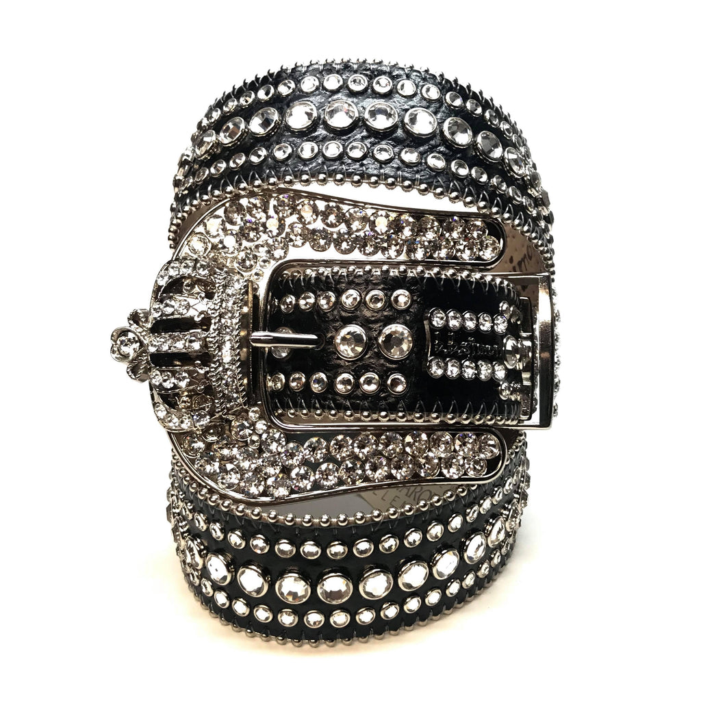 "B.B Simon ""Classic Crown"" Fully Loaded Swarovski Crystal Belt - Dudes Boutique"