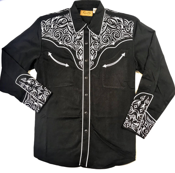 Scully Western Monochrome Long Sleeve Shirt