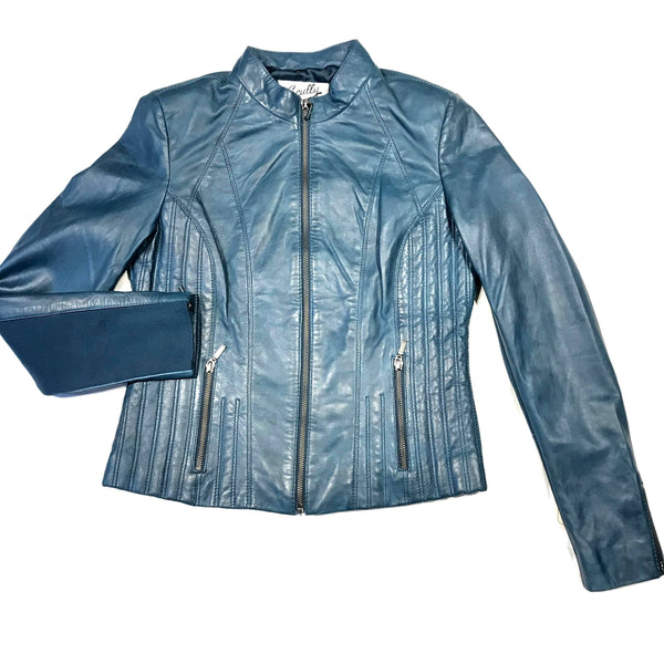 Scully Ladies Elastic Sleeve Lambskin Jacket