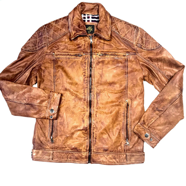 Scully Western Nutmeg Brown Lambskin Jacket