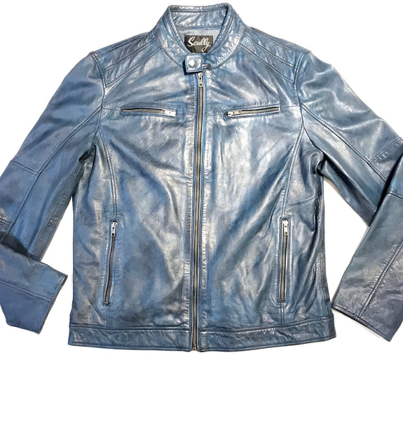 Scully Western Ocean Blue Lambskin Jacket