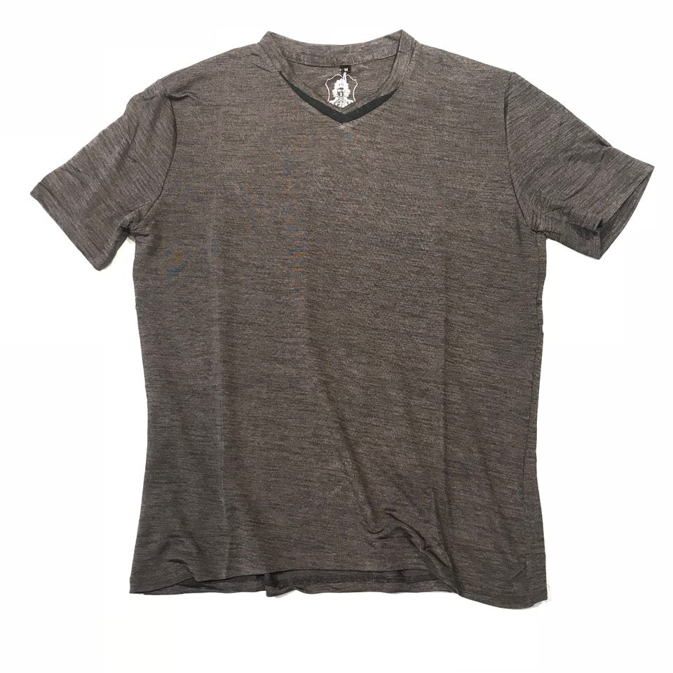 Angelino Double Striped V- Neck  T-shirt - Dudes Boutique