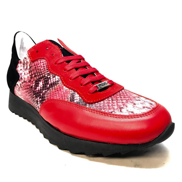 Mauri M728 Red Python Suede Sneakers