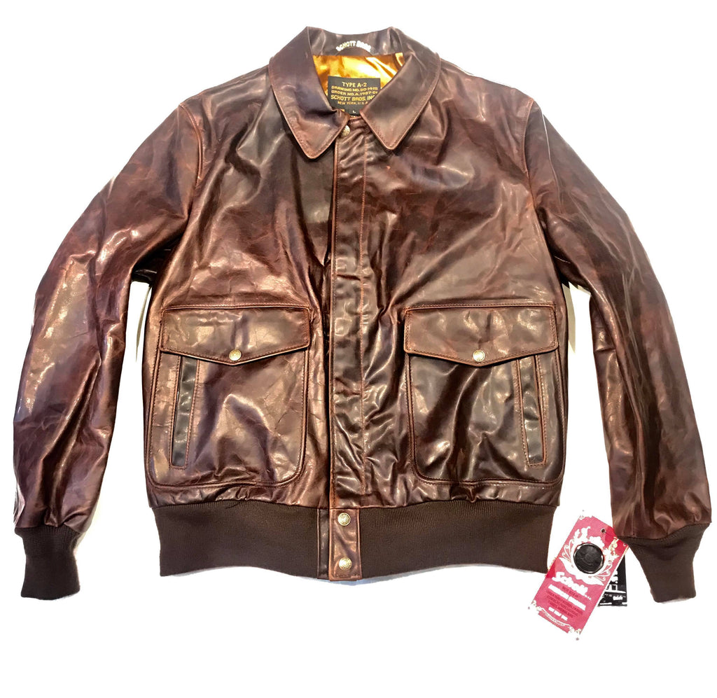 Schott NYC Men's Double Pocket Cowhide Leather Jacket