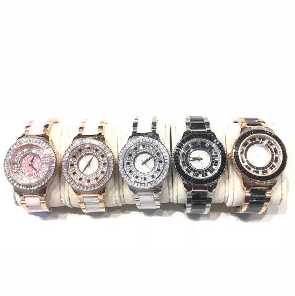 b.b.Simon 'Classic' Fully Loaded Swarkovski Crystal Watch - Dudes Boutique