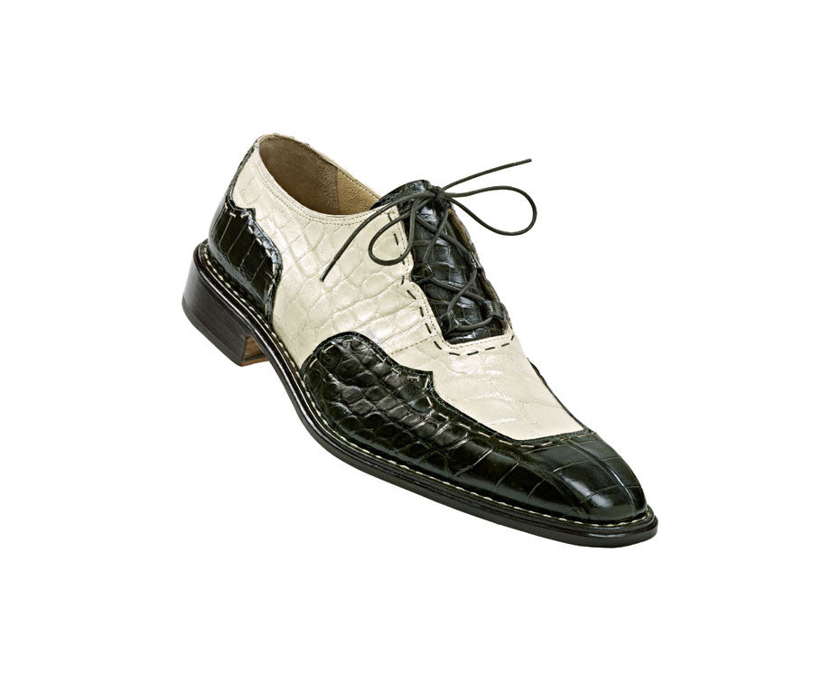 "Mauri - ""4111 Distinct"" Two Tone Alligator Dress Shoe - Dudes Boutique"