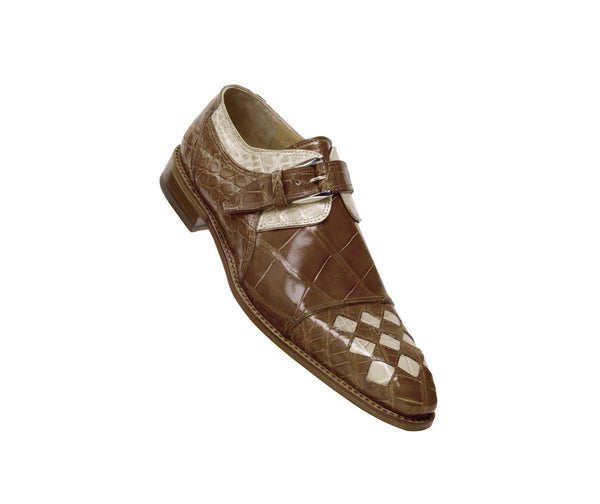 "Mauri - ""4206 Tribute"" Two Tone Alligator Monk Strap Dress Shoe - Dudes Boutique"