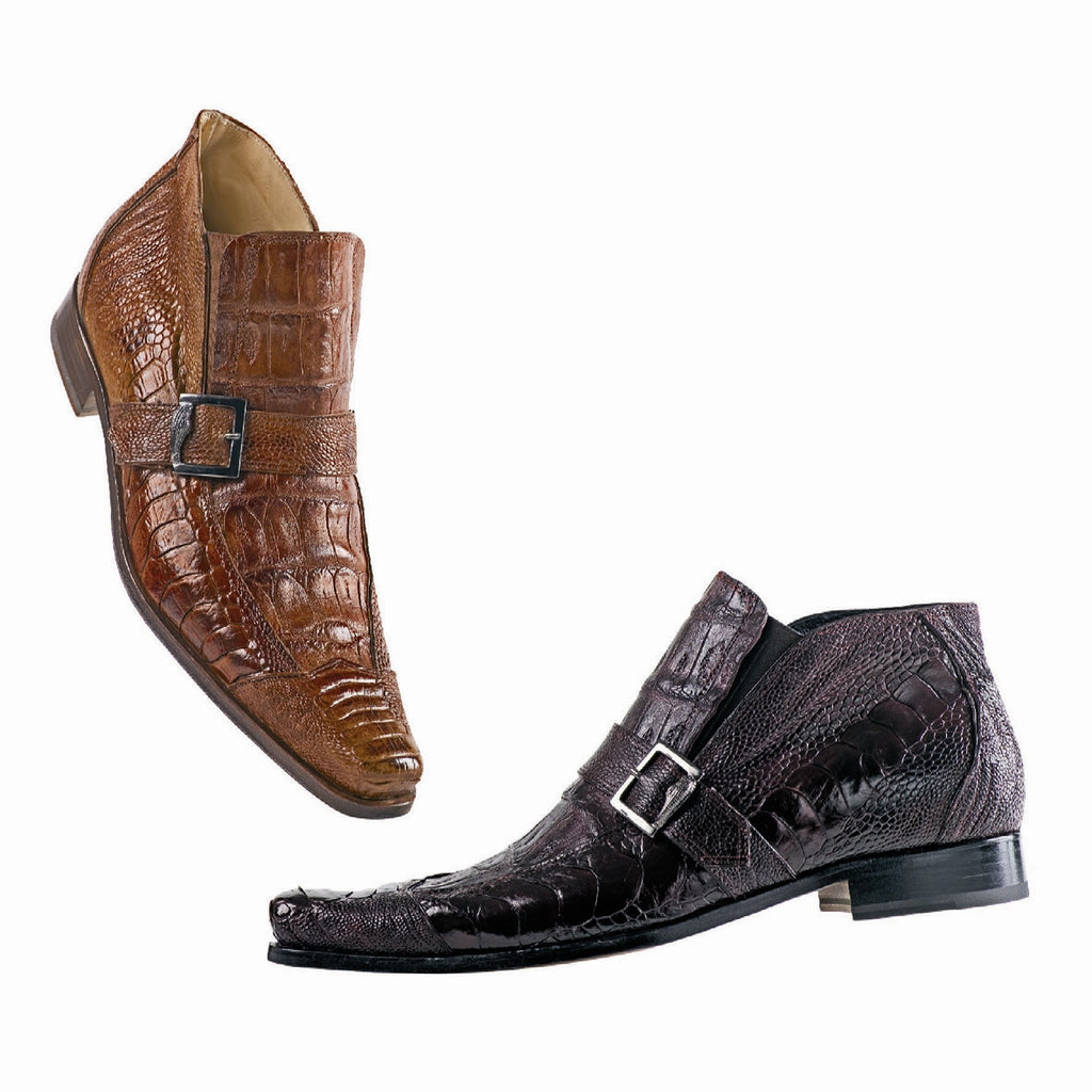 "Mauri - 42731 ""Nominee"" Alligator/Ostrich Leg Ankle Boot - Dudes Boutique"