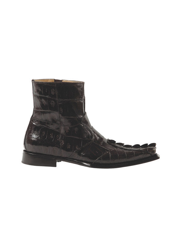 Mauri - 44167-2 Baby Croc/Hornback Alligator Tail Dress Boot - Dudes Boutique