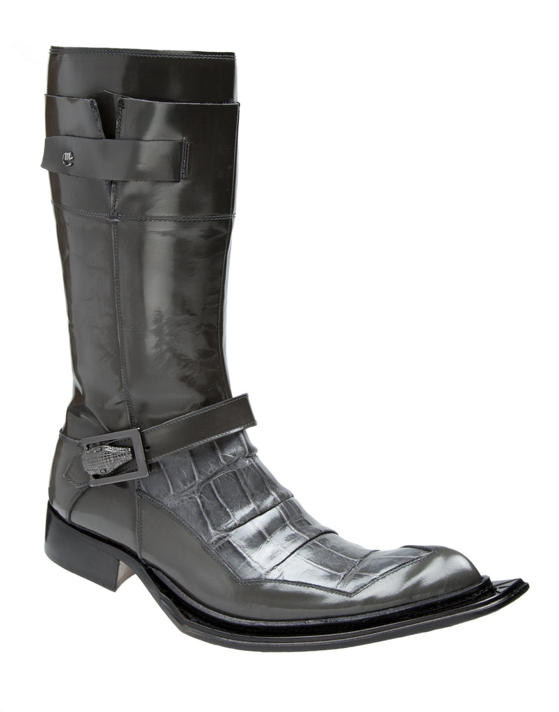 "Mauri - 44240 ""Sestriere"" Dover Calf/Alligator Boot - Dudes Boutique"