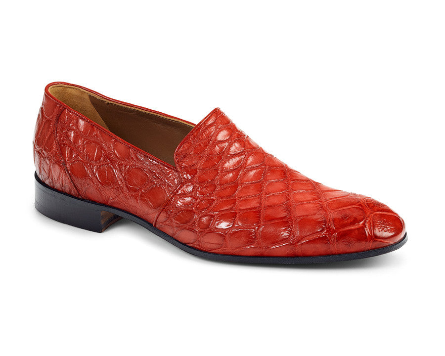 Mauri - 4440 Alligator Body Hand Painted Loafers - Dudes Boutique