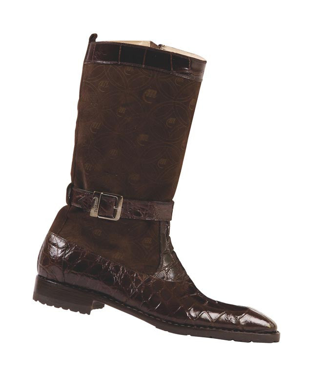 Mauri - 4486 Sport Rust Suede/Alligator Boot - Dudes Boutique
