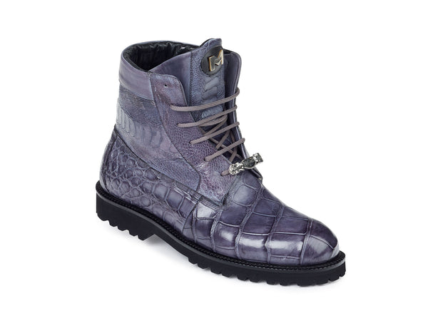 "Mauri - ""4637"" Alligator/Nappa/Ostrich Leg Hand-Painted Boot - Dudes Boutique - 1"