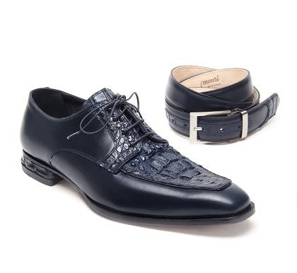 "Mauri - ""4642 Colonna Vitello"" Hornback Crocodile Dress Shoe - Dudes Boutique"