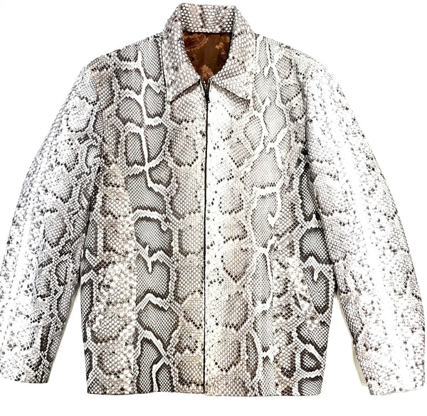 Kashani All-Over Python Skin Bomber Jacket - Dudes Boutique
