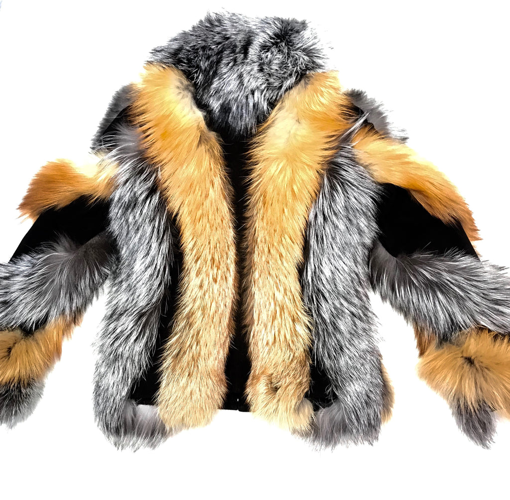 Kashani Two Tone Fox Fur Coat