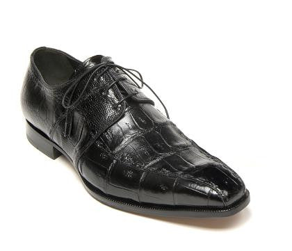 "Mauri - ""4674 Portico"" Crocodile and Ostrich Leg Dress Shoe - Dudes Boutique"