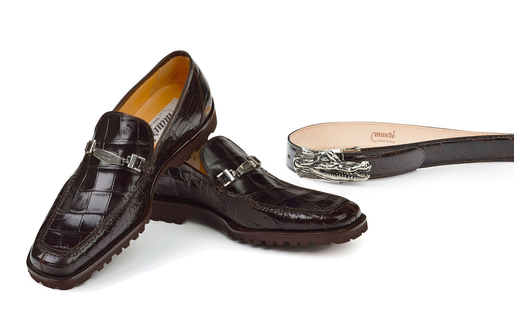 "Mauri - ""4692"" Dark Brown Alligator Loafer - Dudes Boutique"