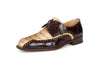 "Mauri - 4717 ""Borsieri"" Hand-Painted Hornback Crocodile Dress Shoe"