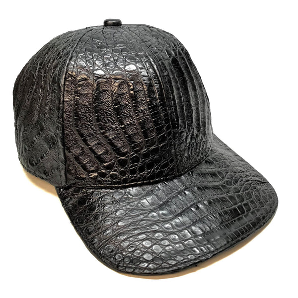 Safari Black Alligator Belly Hat