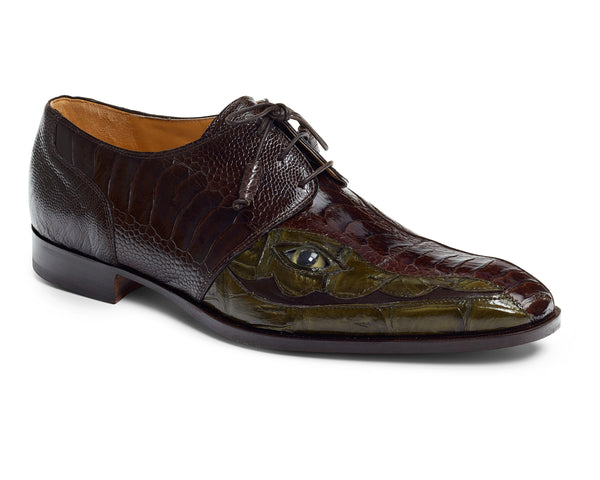 Mauri 4787 'EYE' Colosseo Ostrich & Crocodile Dress Shoes