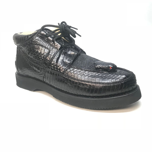 Los Altos Black Cobra Snake Headed Sneakers