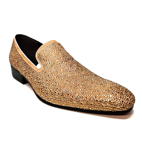 Fiesso Gold Diamond Cut Loafers