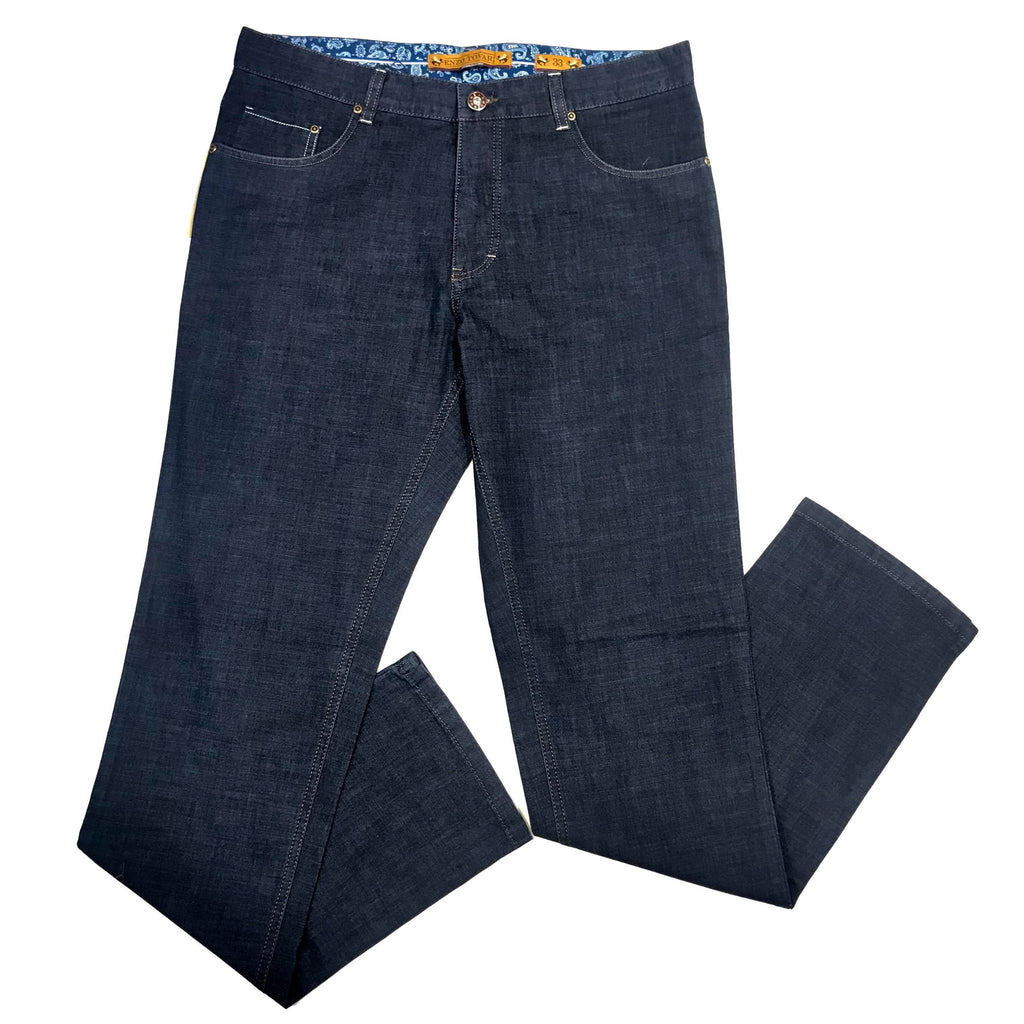 Enzo LUX High-end Denim Blue Trousers