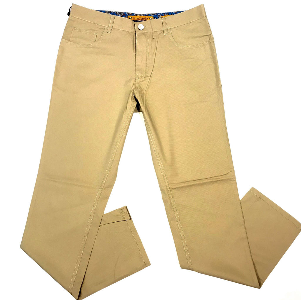Enzo Becker Tan High-end Trousers