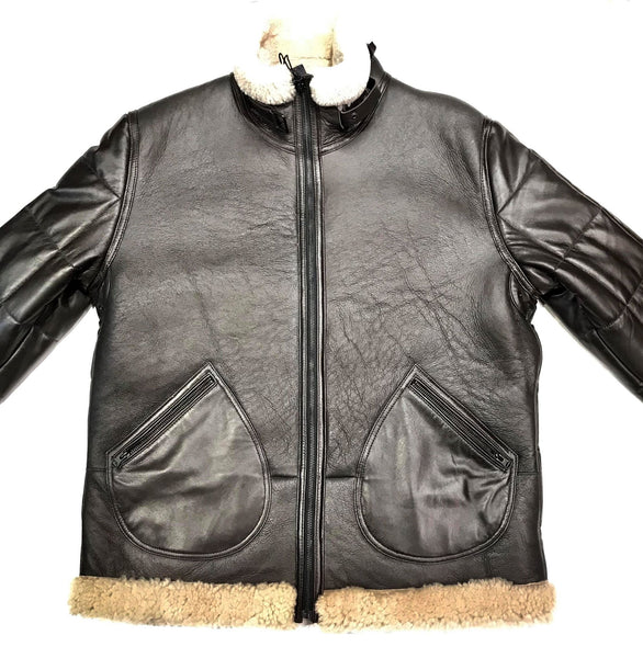 Kashani Quilted Lambskin Shearling Coat - Dudes Boutique