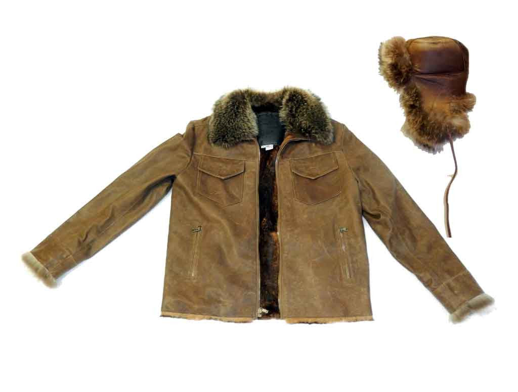 G-Gator - 5100 Cowhide Jacket w/ Beaver Fur Collar - Dudes Boutique