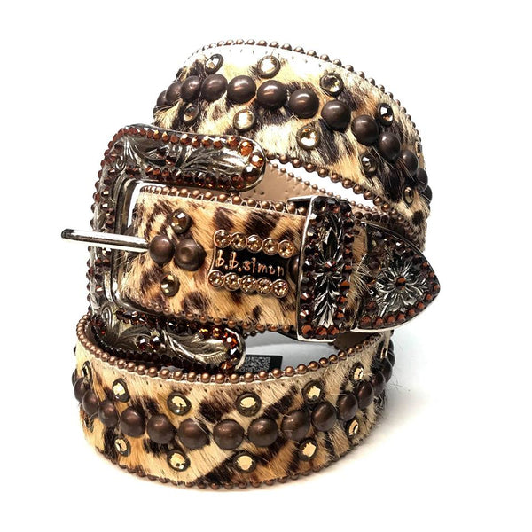 b.b. Simon 'Double Row Tiger' Pony Swarovski Crystal Belt