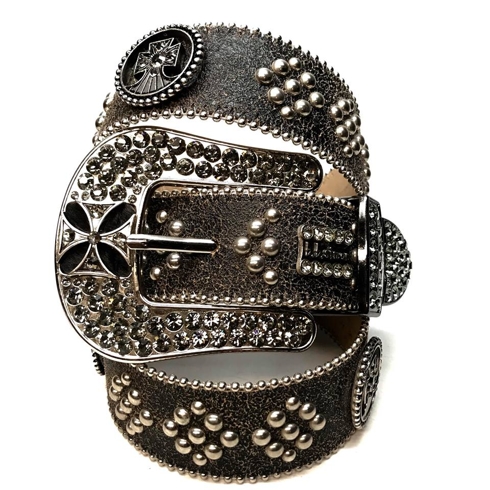 b.b. Simon 'Matrix Blackout' Swarovski Crystal Belt