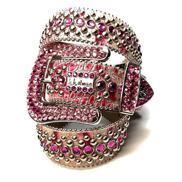 b.b. Simon 'Fuchsia Fully Loaded' Swarovski Crystal Belt