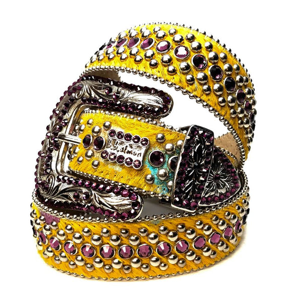 b.b. Simon 'Sunset Yellow' Pony Swarovski Crystal Belt